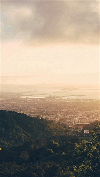 City View Mountain Nature Sunny Summer iPhone 5s wallpaper