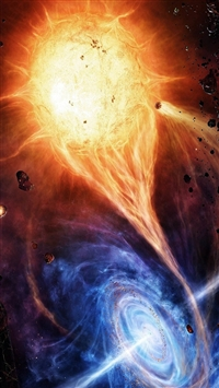 Vortex Red And Blue Space Explosion iPhone 5s wallpaper