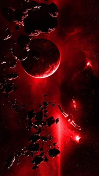 Red Planet Explosion Light From Space iPhone 5s wallpaper