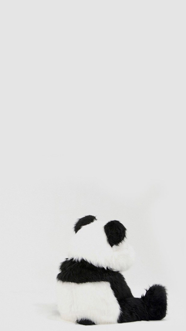 Minimal Simple Panda Back iPhone wallpaper