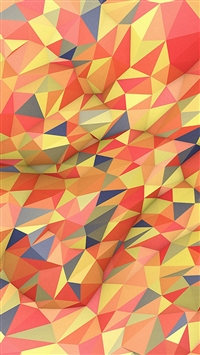 Abstract Red Yellow Polyart Pattern iPhone 5s wallpaper