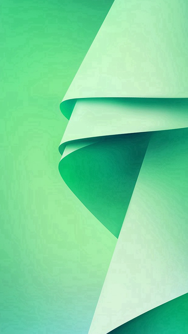 Green Abstract Folding Pattern iPhone wallpaper