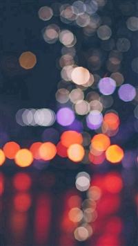 Night Bokeh Art Dark Red Light Pattern iPhone 5s wallpaper