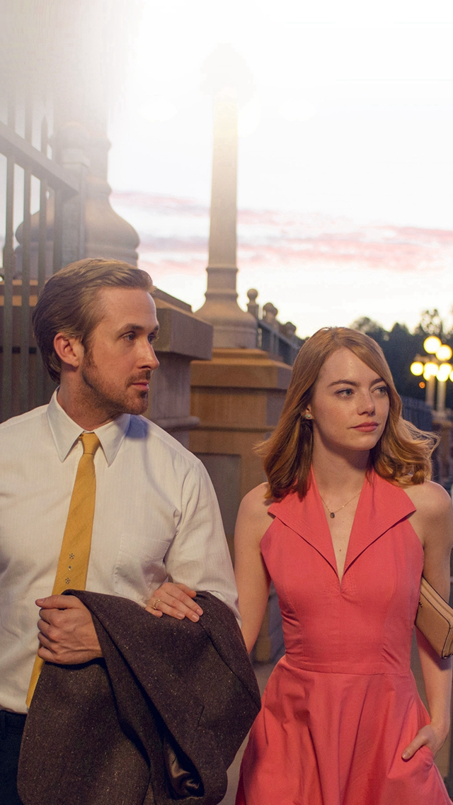 Lalaland Ryan Gosling Emma Stone Red Film iPhone wallpaper