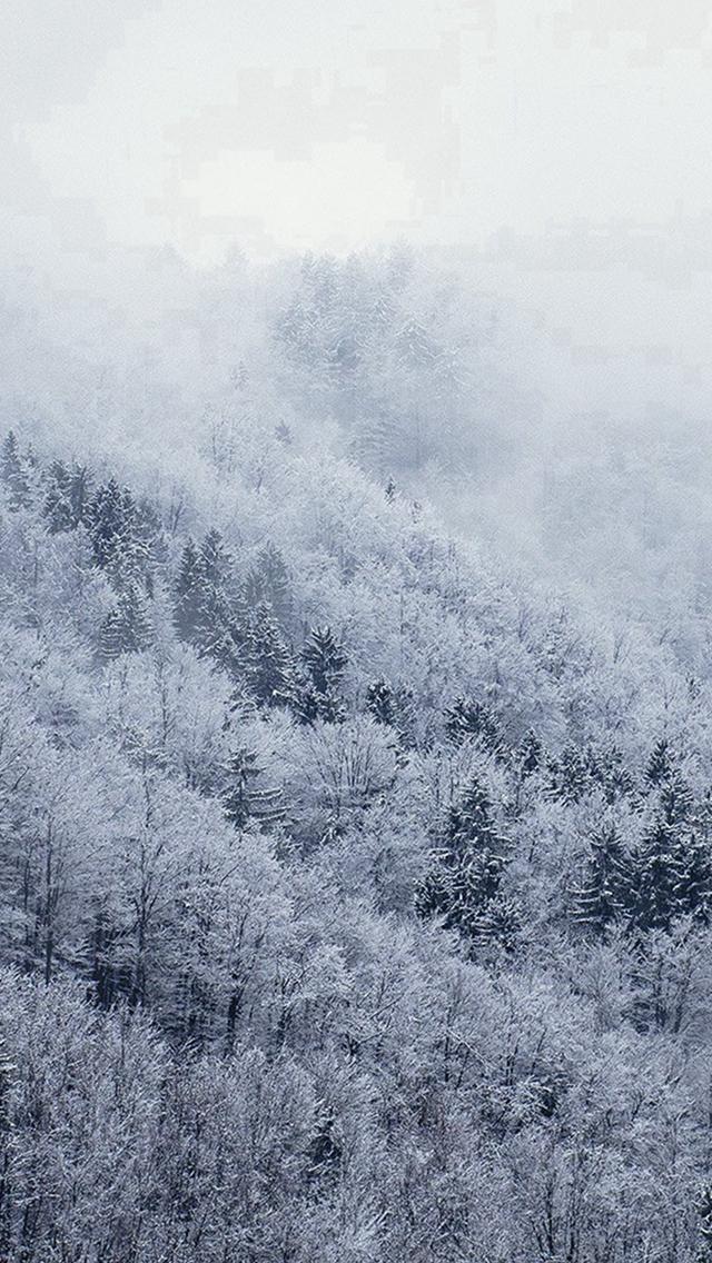 Mountain Wood Winter Christmas White iphone wallpaper ilikewallpaper com