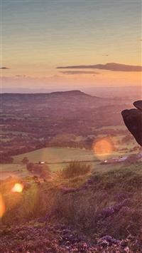 Mountain Morning Sun Llight Nature Spring iPhone 5s wallpaper