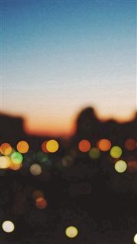 Light Bokeh Sunset City iPhone 5s wallpaper