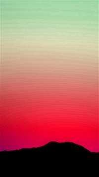 Sunset Sky Minimal Nature Red Green iPhone 5s wallpaper