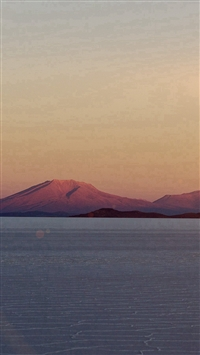 Dessert Mountain Nature Calm Dawn Flare iPhone 5s wallpaper