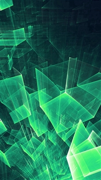 Abstract Blue Green Cube Pattern iPhone 5s wallpaper