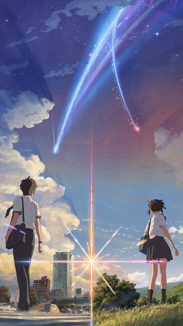 Anime Film Yourname Sky Illustration Art iPhone wallpaper