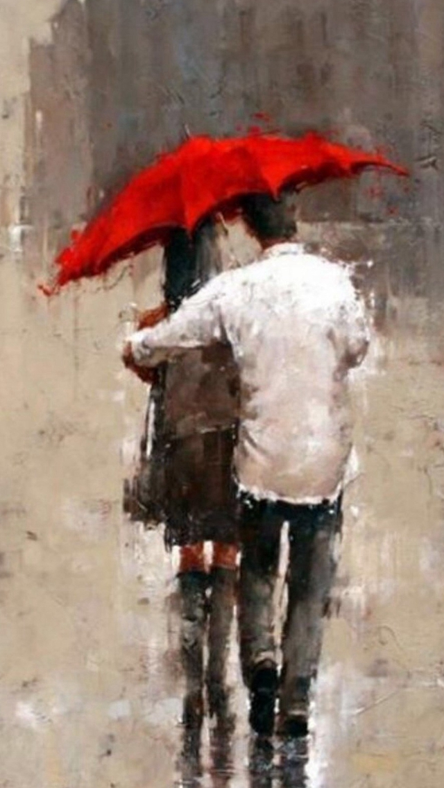 82 Romantic Couple Wallpaper In Rain Terbaru