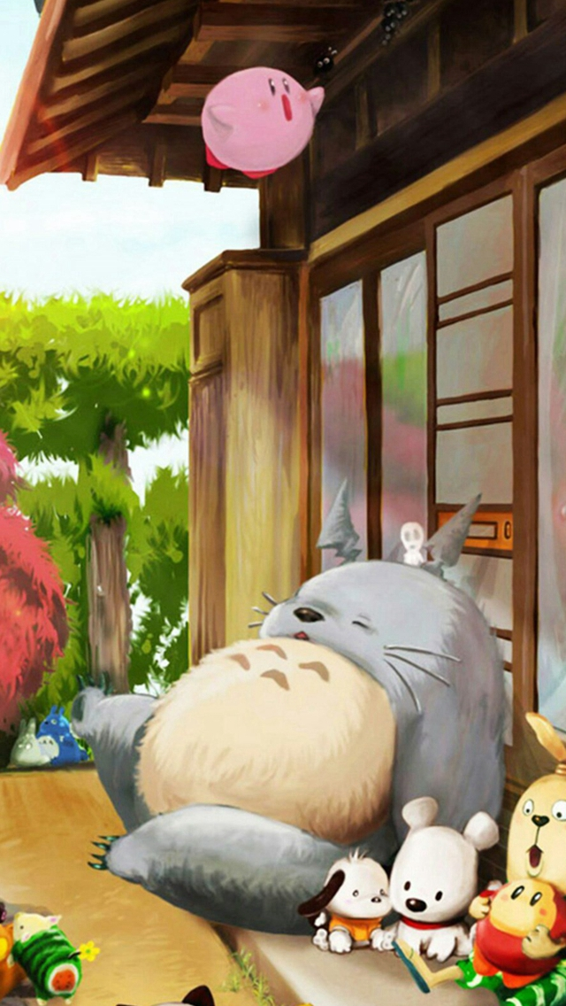 Dreamy Cute Lovely Totoro Window Outside iPhone wallpaper