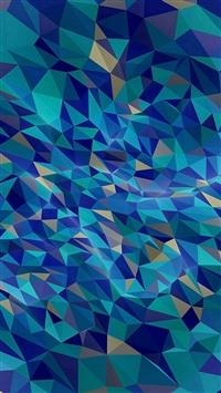 Metaphysics Art Blue Polygon Pattern iPhone 5s wallpaper