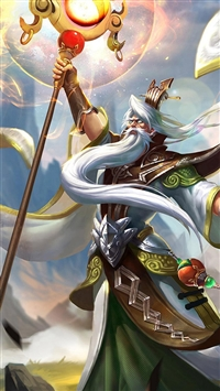 King Glory Jiang Ziya Game Poster iPhone 5s wallpaper