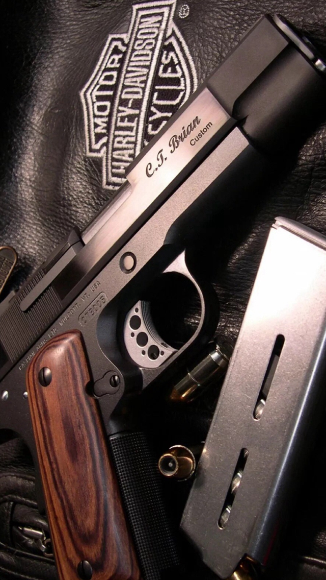 Military Weapon Gun Leather Clothing iPhone wallpaper