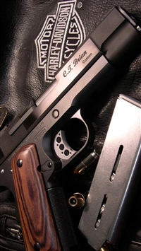 Military Weapon Gun Leather Clothing iPhone 5s wallpaper
