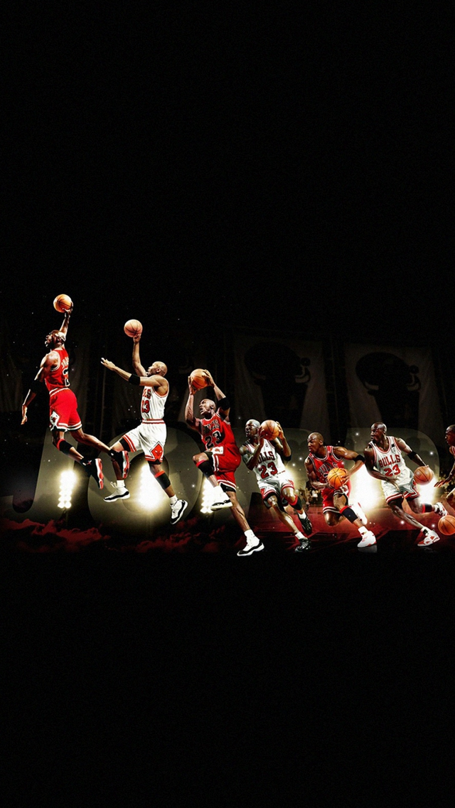 Michael Jordan Dunk Legend NBA iPhone wallpaper