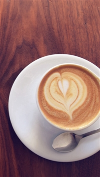 Coffee Cup Heart Love Blue iPhone 5s wallpaper