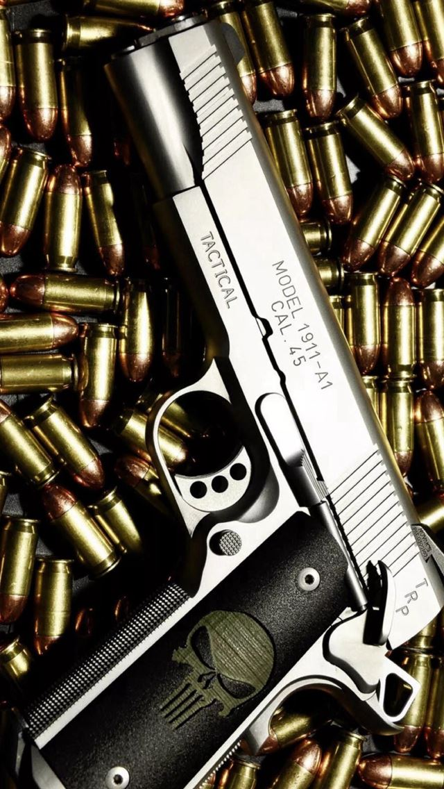 Bullet Stack Gun Weapon Military iPhone wallpaper