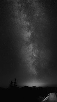 Camping Night Star Galaxy Milky Sky Dark Space Bw iPhone 5s wallpaper