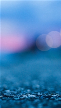 Bokeh Street Blue Night Light Pattern Background iPhone 5s wallpaper