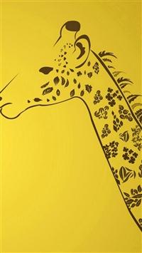 Simple Gireffe Animal Neck Texture Pattern Art iPhone 5s wallpaper