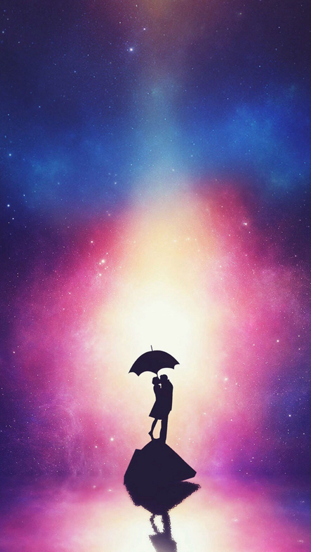 Fantasy Dreamy Anime Lovers Figure Reflection Iphone Wallpapers