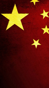 Chinese National Flag Pattern Background iPhone 5s wallpaper