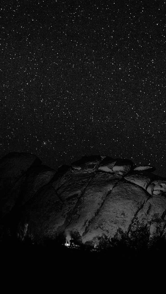 Mystery Rock Night Sky Star Nature Dark iPhone wallpaper