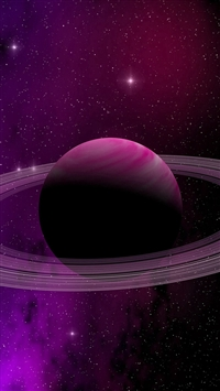 Space Planet Saturn Star Art Illustration Purple iPhone 5s wallpaper