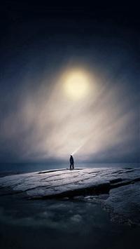 Moonlight Night Dark Soft Illustration Art iPhone 5s wallpaper