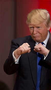 Donald Trump Fists Funny iPhone 5s wallpaper