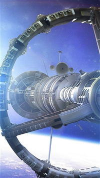 Space Planet Ship Art Star iPhone 5s wallpaper