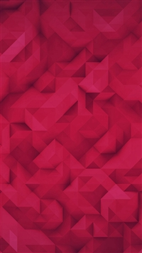 Polygon Art Red Triangle Pattern iPhone 5s wallpaper