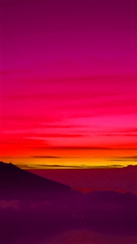 Red Balinese Dream Sea Mountain Sunset iPhone 5s wallpaper