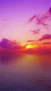 Nature Mystery Beautiful Sunrise Landscape iPhone 5s wallpaper