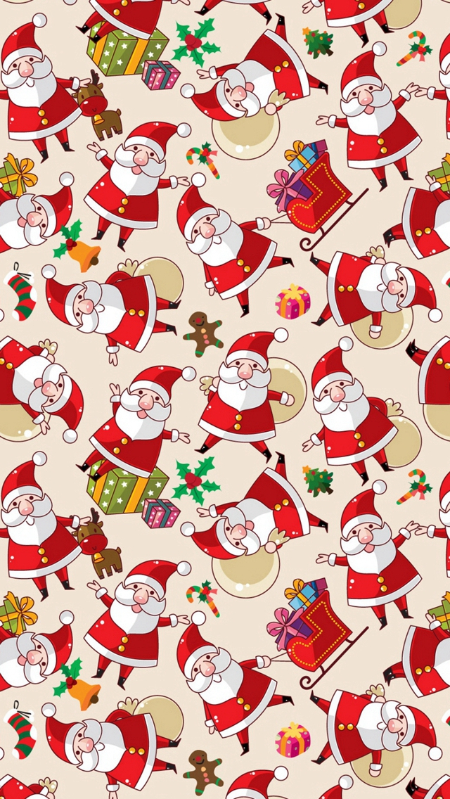Santa Claus Texture Background Pictures iPhone wallpaper