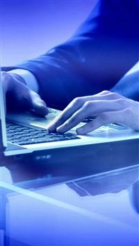 Businessman Hands Keyboard Laptop iPhone 5s wallpaper