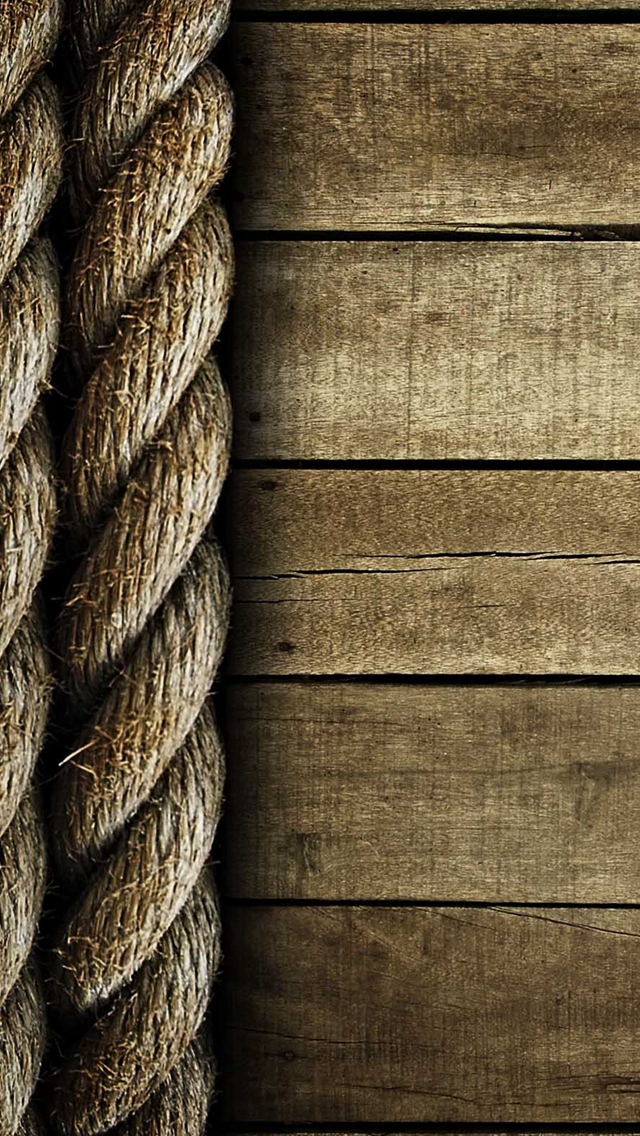 Abstract Wooden Crack Rope iPhone wallpaper