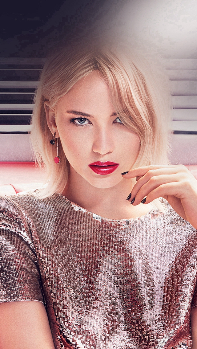 Jennifer Lawrence Girl Gaze Film Actress iPhone wallpaper