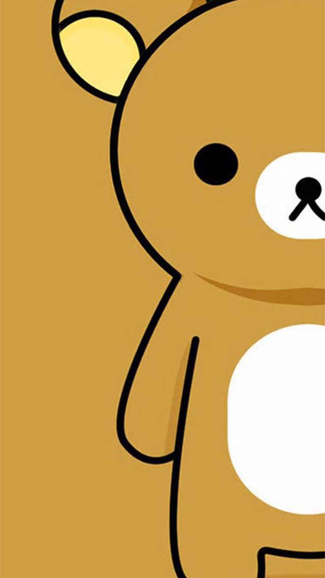 Rilakkuma Seikatsu Relaxed Bear iPhone wallpaper