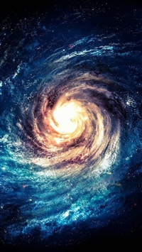 Swirling Galaxy Illustration  iPhone 5s wallpaper