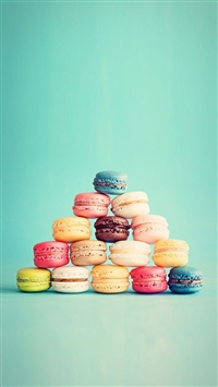 Macarons French Cake Pyramid iPhone 5s wallpaper