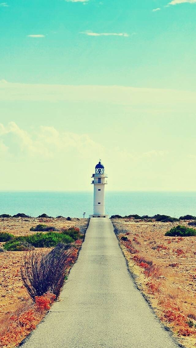 Ocean Lighthouse Road Iphone Wallpapers Free Download