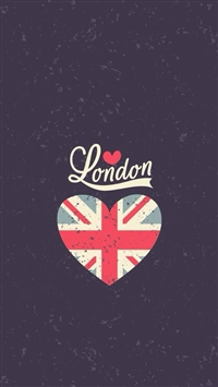 Love London Heart Flag iPhone 5s wallpaper