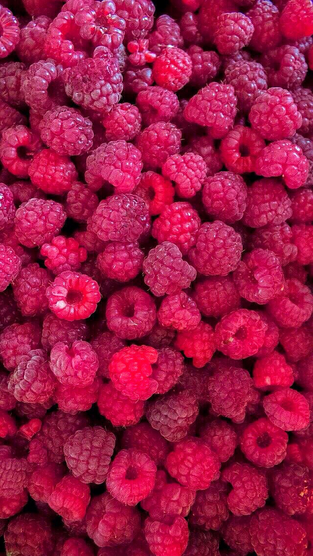Fresh Raspberries iPhone wallpaper