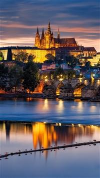 Czech Republic Czech Bridge City Praha Prague iPhone 5s wallpaper