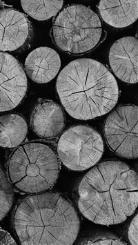 Wood Nature Cut Pattern Dark Bw iPhone 5s wallpaper