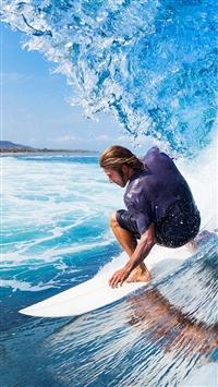 Surf Wave Sea Ocean Sports iPhone 5s wallpaper